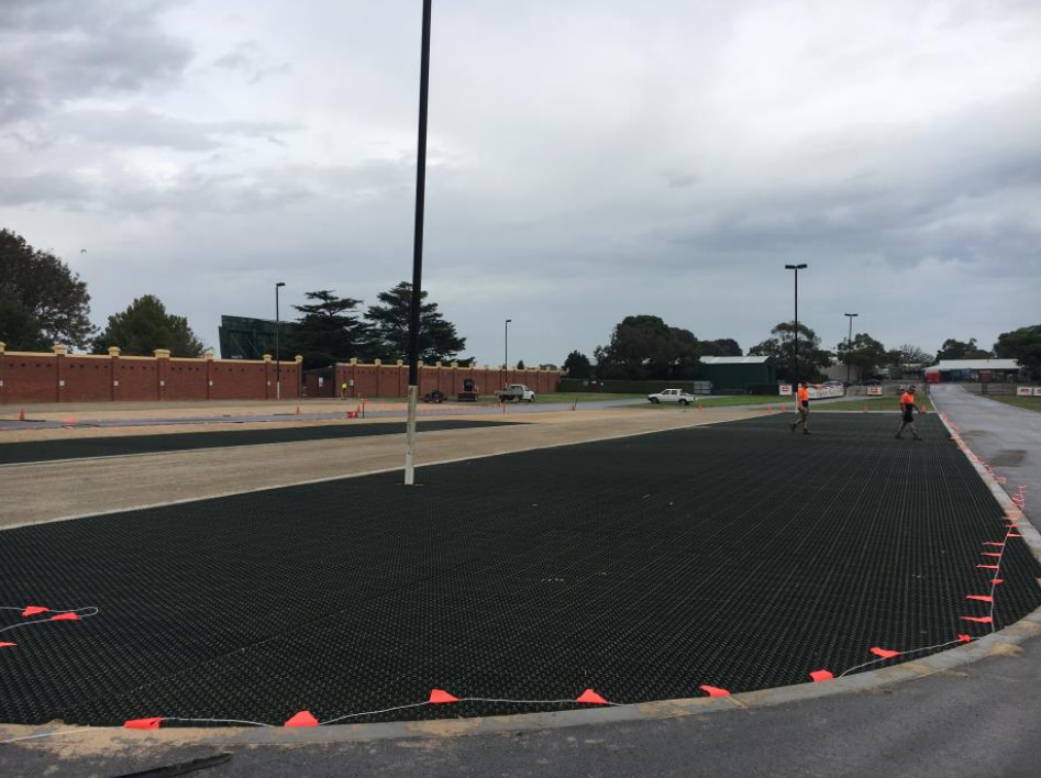 Melbourne Racing Club Caulfield Racecourse GrassCel reinforced turf parking