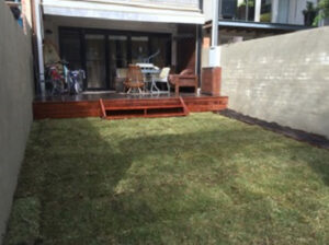 Small spaces and inner city living, it's great to have dual purpose lawn and parking areas.